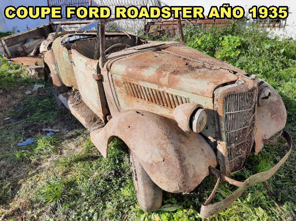 Restos Coupe Ford Convertible Año 1935