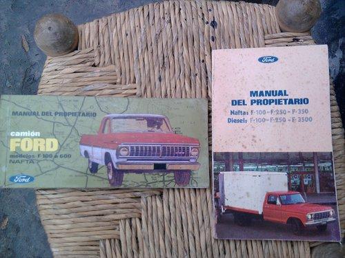 Repuesto Manual Guantera Ford F100