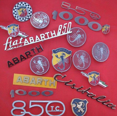Part Abarth Cisitalia Badges