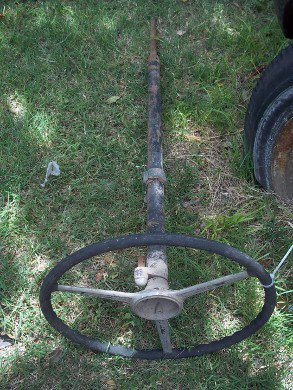 Part Steering Wheel Column Auto Old