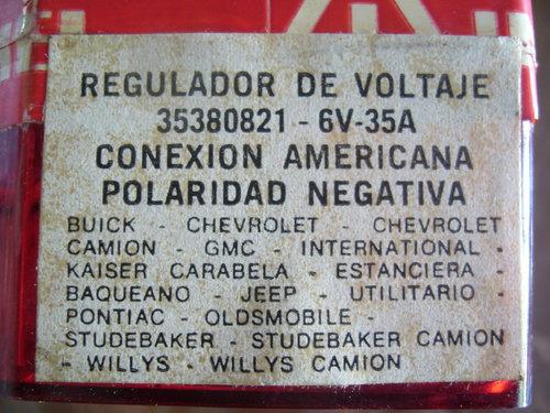 Part Regulator Voltage 6 Volts