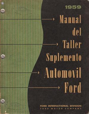 Part 1959 Ford Workshop Manual