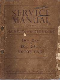 Repuesto Manual Servicio Arsmtrong Siddeley 1947