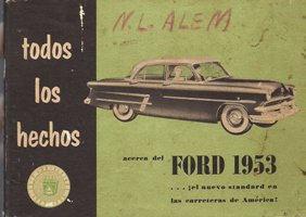 Part Ford 1953 Manual