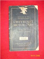 Manual Original Chevrolet 1933.
