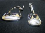 Espejos Para Fiat 600,128,125,800,1500,1600 Metal Cromado