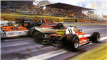 Cuadro Reutemann Pasando A Lauda En El Gran Premio Inglaterra 1978.