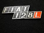 Insignia Fiat 128 L Metálica Original