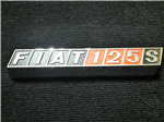 Insignia Trasera Fiat 125 Coupe Original