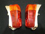 Juego Faros Traseros Plástico Cromado Fiat 600