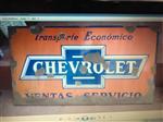 """Cartel Antiguo Enlozado Enlozado """"chevrolet"""""""