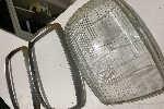 Vidrio Farol Delantero Mercedes Benz Original, Material Vidrio, Con Marcos Cromados Con Detalles ,