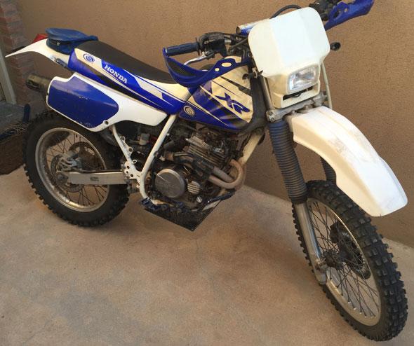 Honda XR 250 Motorcycle
