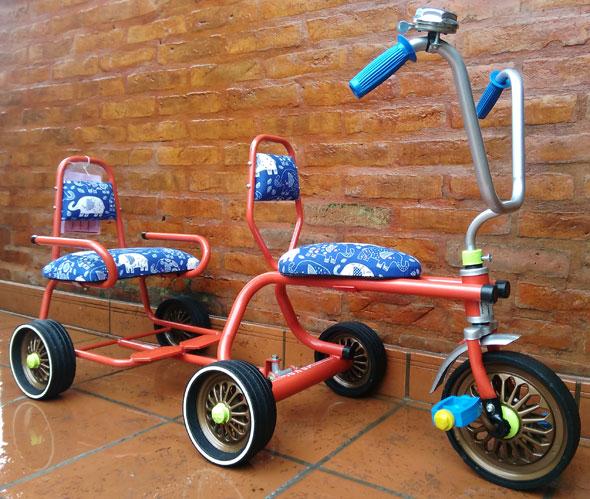 Bicicleta Triciclo Doble Colección