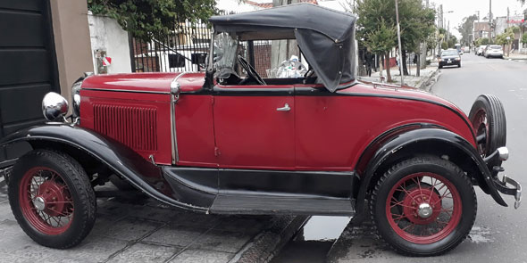 Auto Ford A Coupé Roadster Voiture 1930