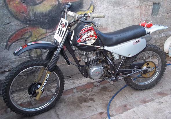 Moto Honda XR 100 R 1992