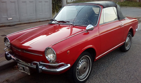 Car Fiat 800 Spider 1968