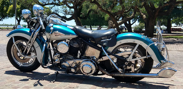"Moto Harley Davidson Flathead 80"" 1340cc 1941"
