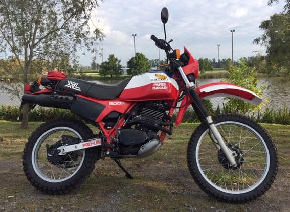 Moto Honda XL500R París Dakar