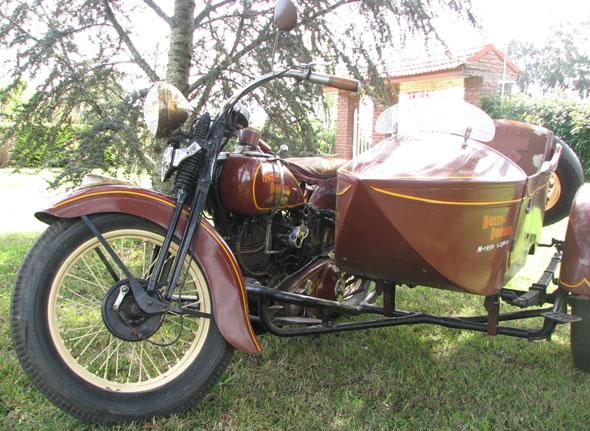 Moto Harley Davidson 1936 Flat Head