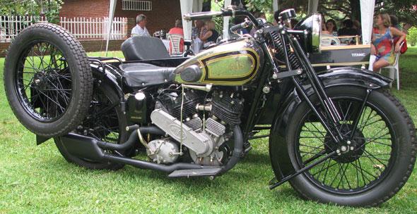 AJS 1000  2A, Estilo Colonial 1938 Motorcycle
