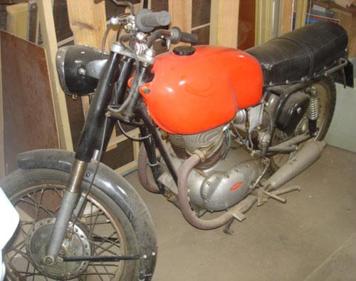 Motorcycle Gilera 300 1957
