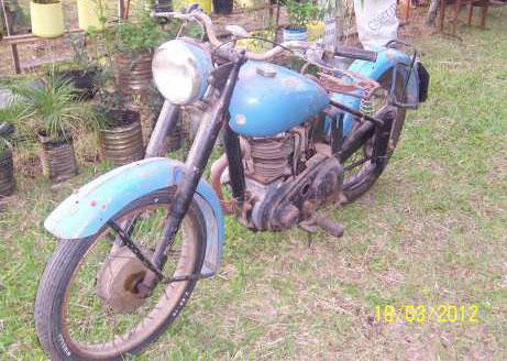 Motorcycle BSA 1947