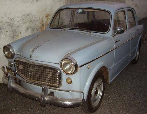 Car Fiat 1100 1963