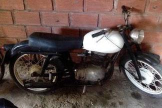 Motorcycle Gilera 150 SS 1954