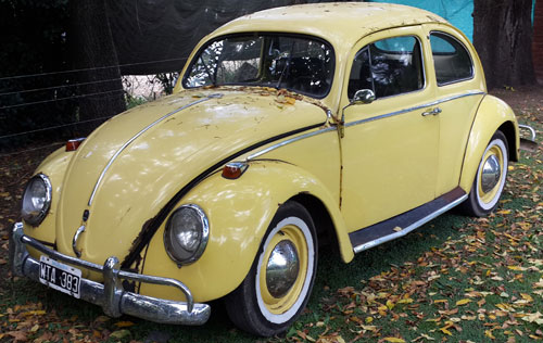 Car Volkswagen Escarabajo 1956 Oval