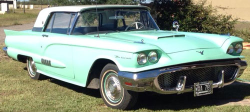 Car Ford Thunderbird 1958