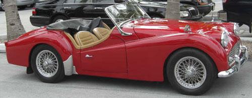 Car Triumph TR 3