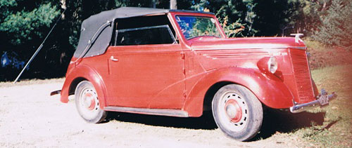 Car Ford Prefect Drophead Coupé