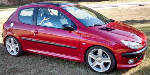 Car Peugeot 206 2.0 GTI
