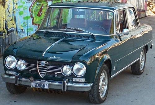 Auto Alfa Romeo Giulia Super 1967