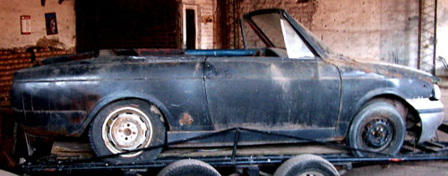 Car Fiat 800 Spider