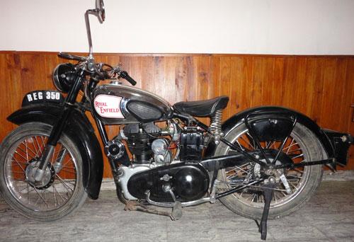 Moto Royal Enfield 350 G 1947