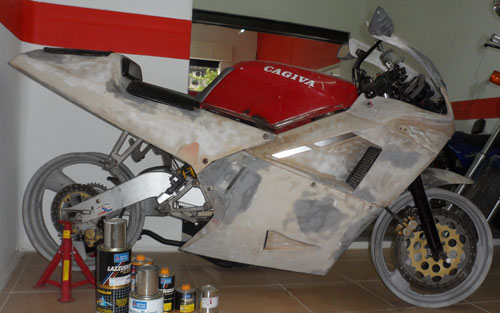 Motorcycle Cagiva Mito 125 Lawson