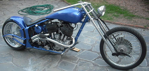 Moto Harley Davidson Flathead 1948