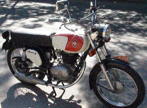 Motorcycle Gilera 200 1974