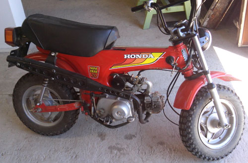 Motorcycle Honda CT 70 Dax