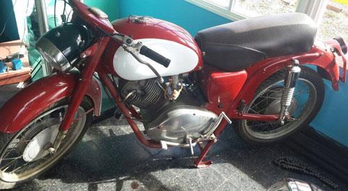 Motorcycle Guzzi 1961