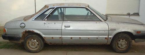 Auto Subaru 1981 Coupé