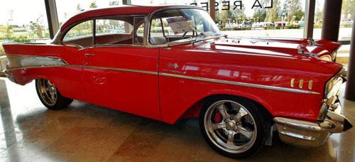 Auto Chevrolet Belair 1957 Coupé