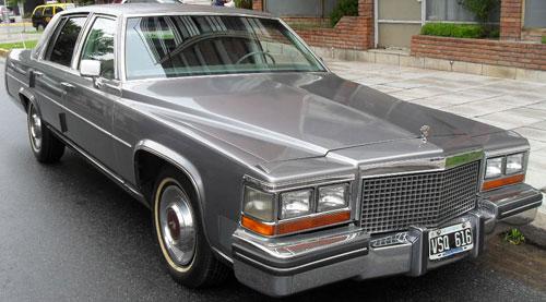 Car Cadillac Fleetwood Brugham 1980