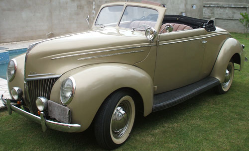 Car Ford 1939 Convertible Voiture