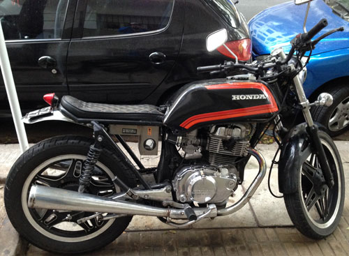 Motorcycle Honda CB400T Hawk 1981