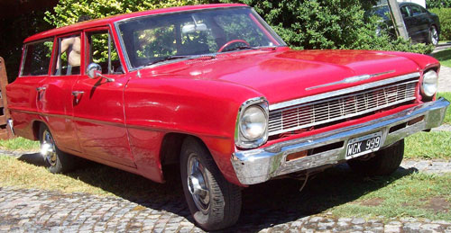 Car Chevrolet Chevy II Nova Station Wagon 1966