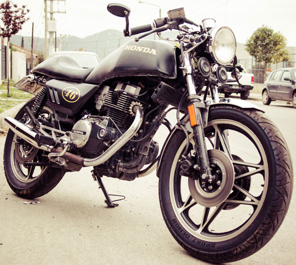 Car Honda CB450DX Cafe Racer