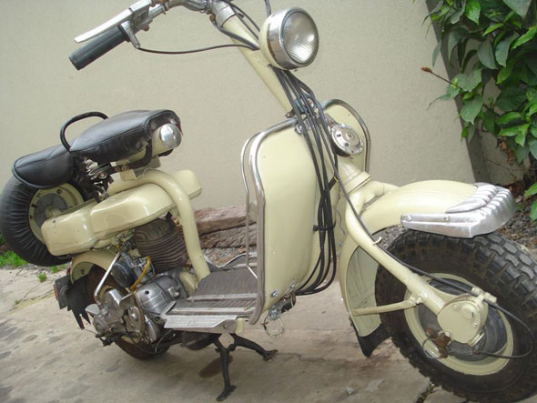 Motorcycle Siambretta 125 1956 Standard